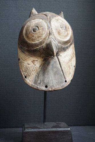African Luba Kifwebe Owl Zomorphic Mask