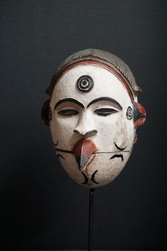 African Igbo Mask from the Democratic Republic of the Congo