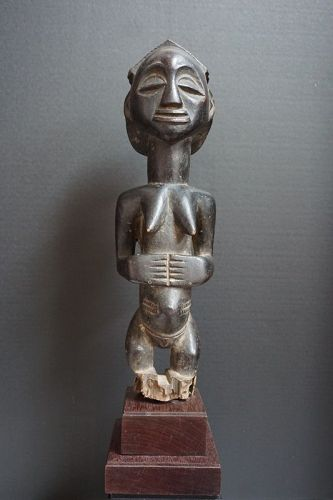 African Standing Female Luba Figure