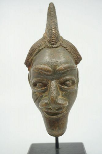African Bronze Maskette from Bamum Cameroon