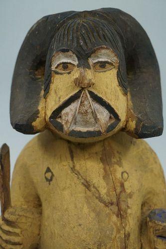 African Igbo Ikenga Warrior Figure