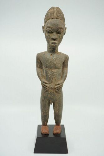 African Male Baule Figure from the Ivory Coast