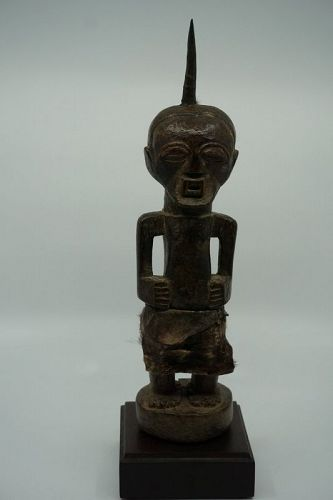 African Male Songye Power Figure from Congo