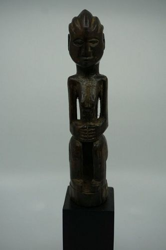 African Seated Female Figure from Congo