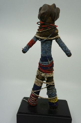 African Beaded Bone Doll from the Cameroon