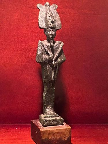Egyptian Bronze Osiris Published with COA