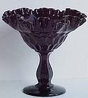 Fenton Black Thumbprint Compote