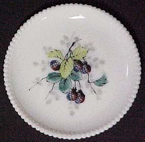 "Westmoreland Fruits Beaded Edge 7"" Plate, Black 
