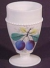 Westmoreland Fruits Beaded Edge Tumbler, Plum