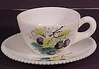 Westmoreland Beaded Edge Cup & Saucer, Black Berry