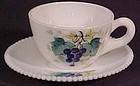 Westmoreland Fruits Beaded Edge Cup & Saucer, Grape