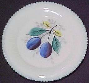 "Westmoreland Fruits Beaded Edge 6"" Plate, Plum"