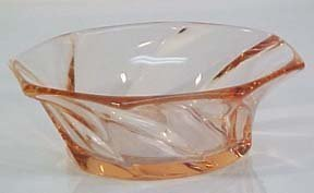 Heisey Twist Berry Bowls, Pink