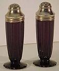 Hazel-Atlas Newport Amethyst Shakers