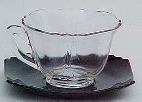 Cambridge Teacup, Black and Crystal