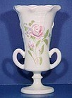 Westmoreland Roses & Lattice Hand-painted Vase