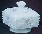 Westmoreland Roses & Bows Low Square Covered Box