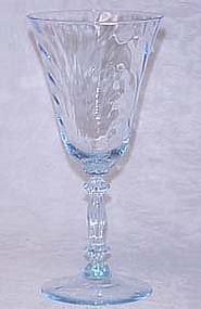 Cambridge Blue Caprice Water Goblet