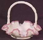 "Fenton Apple Blossom Crest 8"" Basket"