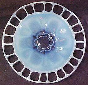 """Duncan & Miller Murano 14.5"""" Blue Opalescent Platter"""