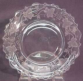 """Heisey Plantation 7.5"""" Plate with Ivy etching"""