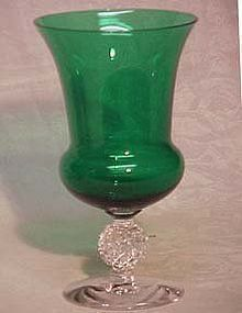 Morgantown Golfball Green Urn Vase