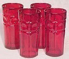 "Fenton Plymouth Red Tumblers, 6"" tall"