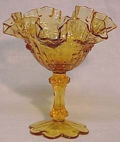 Fenton Colonial Amber Rose Compote