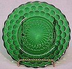 "Anchor Hocking Green Bubble 6.5"" Plate"