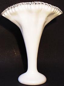 """Fenton Silver Crest 13"""" Fan Vase"""