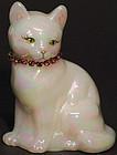 Fenton Cat with Necklace (October)