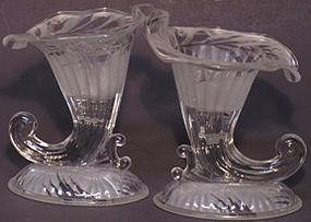 Fenton Silvertone Candle Vases