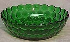 "Anchor-Hocking Green Bubble 5.5"" Cereal Bowl"