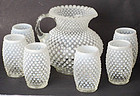 Fenton French Opalescent Hobnail Water Set