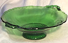 "Cambridge Green Gadroon 7"" Shallow Bowl"