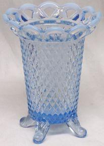 "Imperial Katy Blue 5"" Vase (Open Lace)"