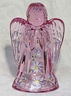 Fenton Dusty Rose Hand-painted Angel