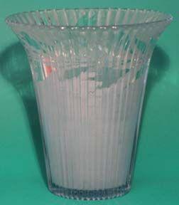 "Fenton Sheffield 8"" Flared Vase, Light Blue with Silvertone Etching"
