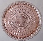 Jeannette Windsor Diamond Pink Platter, 13.5""