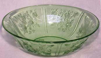 "Federal Sharon Green Fruit Bowl, 10"""