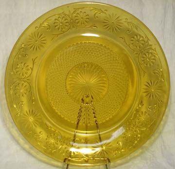 "Indiana Daisey Amber 11.5"" Platter"