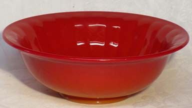 "Northwood Chinese Coral Red 9.5"" Bowl"