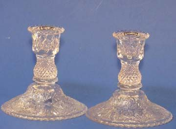 Duncan & Miller Single Sandwich Candlesticks