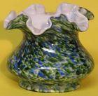 "Fenton Vasa Murrhina (Adventurine) 4"" Vase"