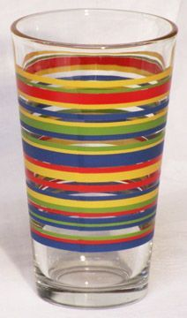 Libbey Flat Tumbler, Banded - Ring