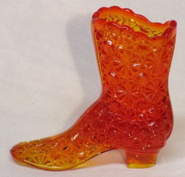 Fenton Daisy & Button Colonial Orange High Shoe