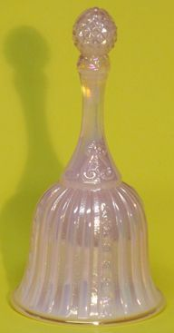 Fenton Pearlized Pink Temple Bell