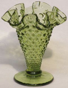 Fenton Colonial Green Mini Cone Vase