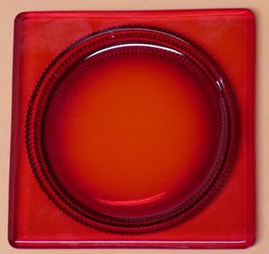 "Duncan & Miller Red Terrace 6"" Square Plate"