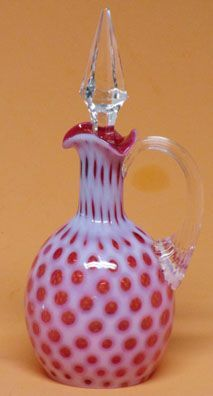 LG Wright Cranberry Opalescent Cruet